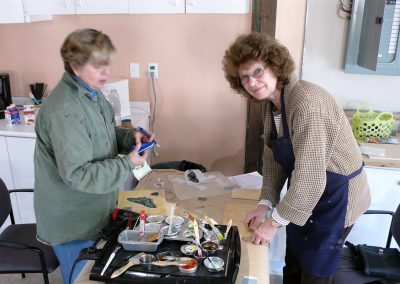 Encaustic workshop with Linda Virio