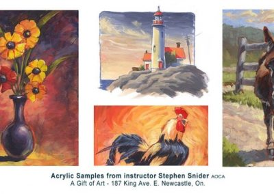 MARCH 21 – MAY 2 | Acrylic Painting with Stephen Snider