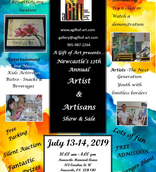 JULY 13-14 | Newcastle's 12th Annual Artist & Artisans Show & Sale