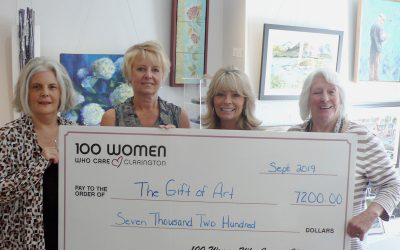 100 Women Who Care Clarington make $7,200.00 donation to A Gift of Art