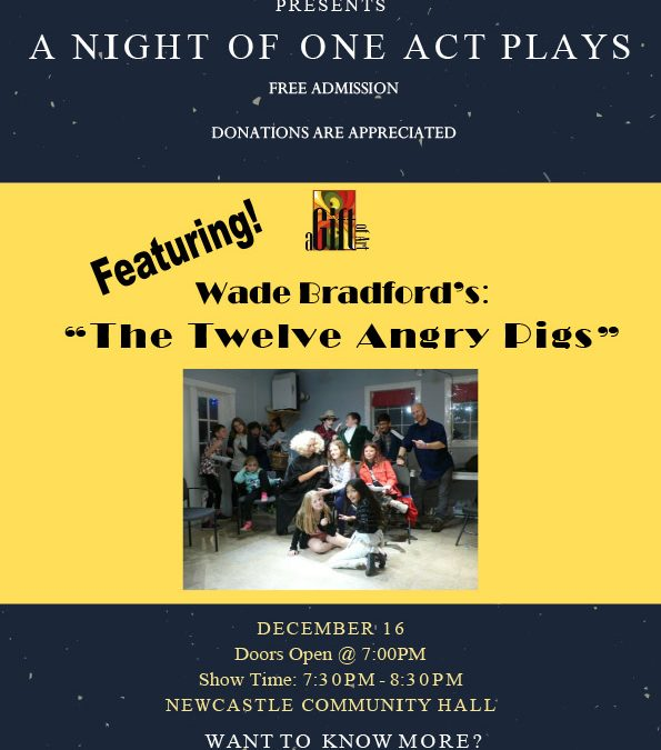 DECEMBER 16 | A Night of One Act Plays