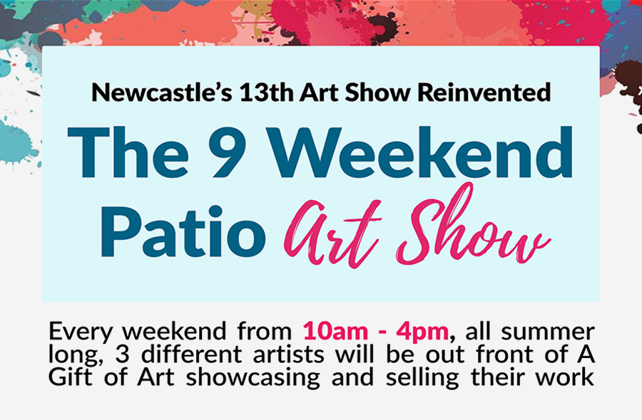 JULY 4 – AUGUST 30 | Newcastle's 13th Annual Art Show – Reinvented!