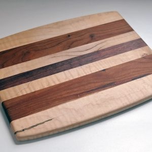 Cutting Board Purple Heart Curly Maple Cherry