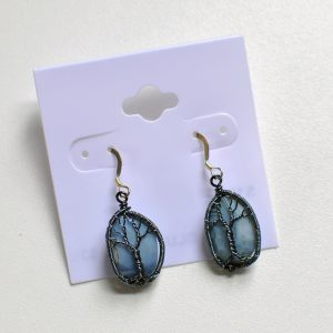 Tree of Life – Blue Opal Earrings