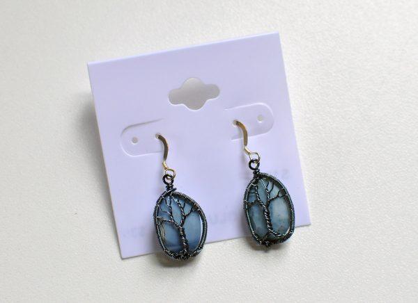 Tree of Life – Blue Opal Earrings