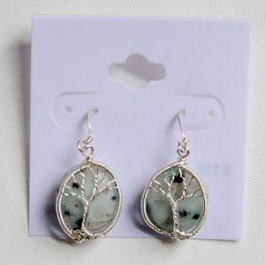 Sesame Jasper – Tree Earrings