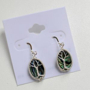 Abalone Shell – Tree Earrings