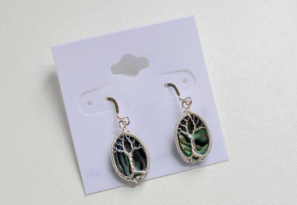 Abalone Shell – Tree Earrings