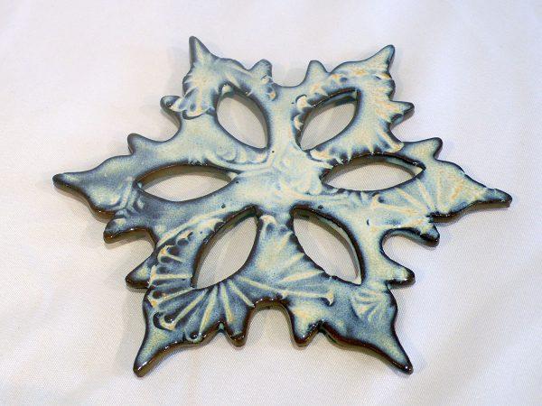 White/Blue Snowflake