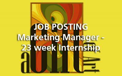 JOB POSTING | Marketing Manager – 23 week Internship