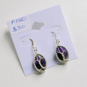 Amethyst – Tree Earrings