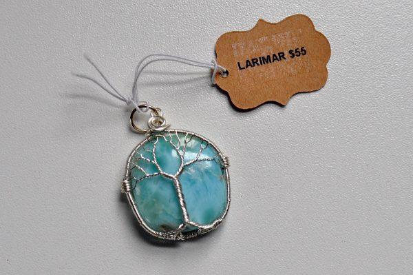 Larimar – Tree Pendant