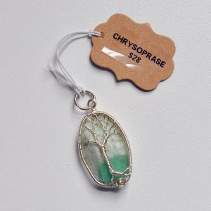 Chrysoprase – Tree Pendant