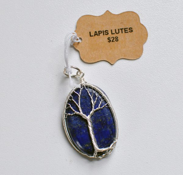Lapis Lutes – Tree Pendant