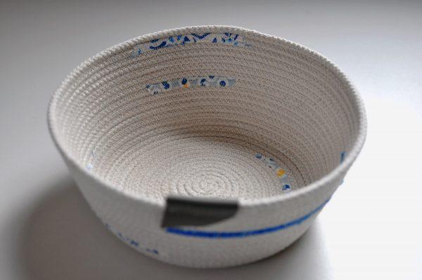 Large Cord Bowl, blue