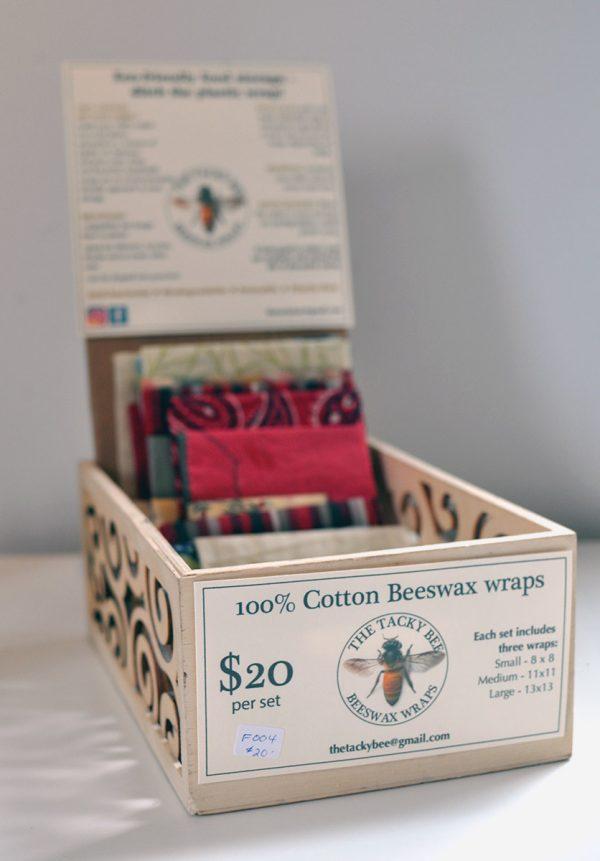 100% Cotton Beeswax Wraps