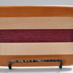 Small Cutting Board – Purple Heart/Maple/Cherry