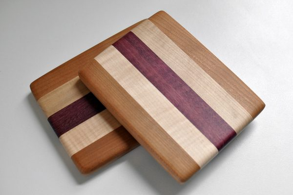Small Cutting Board – Purple Heart/Maple/Cherry