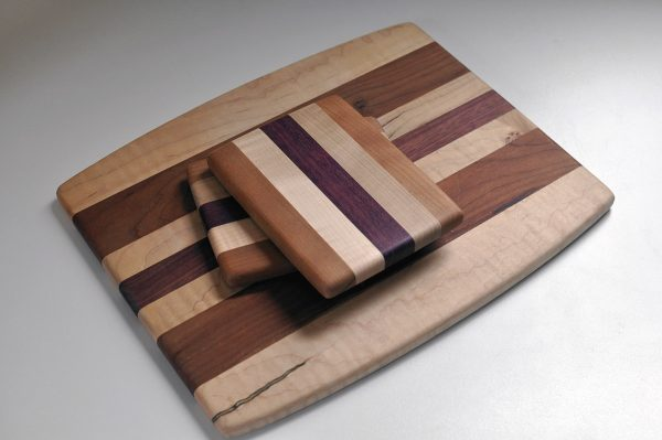 Small & Large Cutting Boards – Purple Heart/Maple/Cherry
