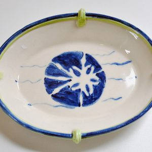 Soap Dish (dark blue and green)