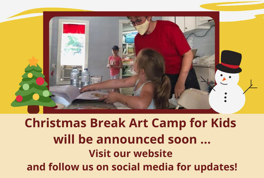 Christmas Break Art Camp for Kids will be announced soon