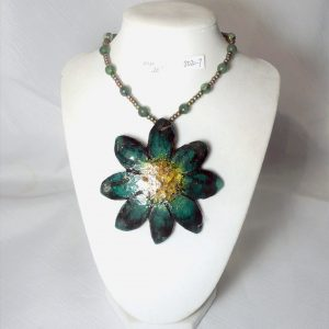 Green Flower Necklace
