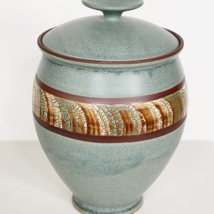 Jade Ceramic Vase with Lid