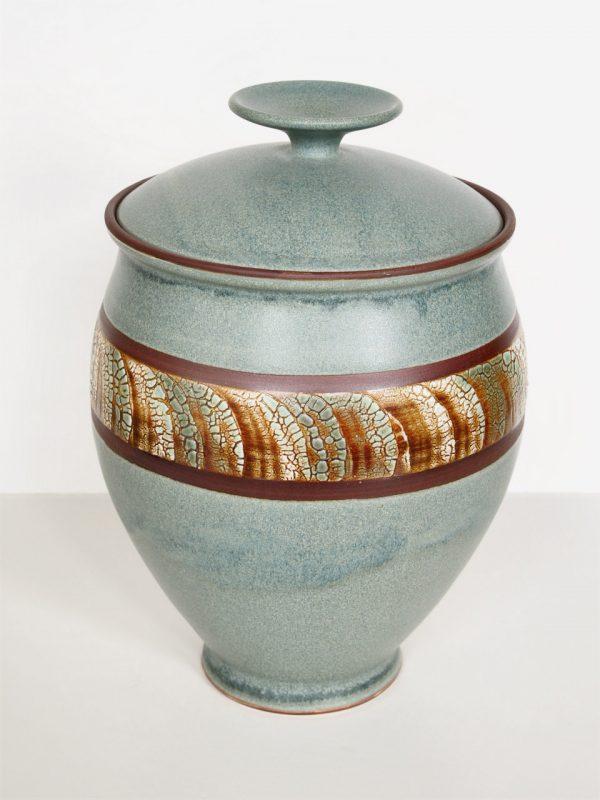 Jade Ceramic Vase with Lid