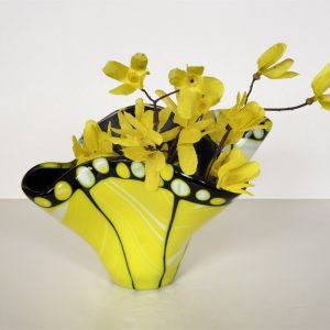Yellow Butterfly Vase