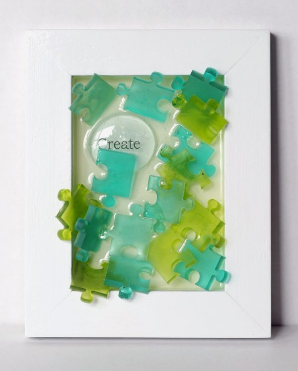 Create Puzzle Pieces Blue and Green