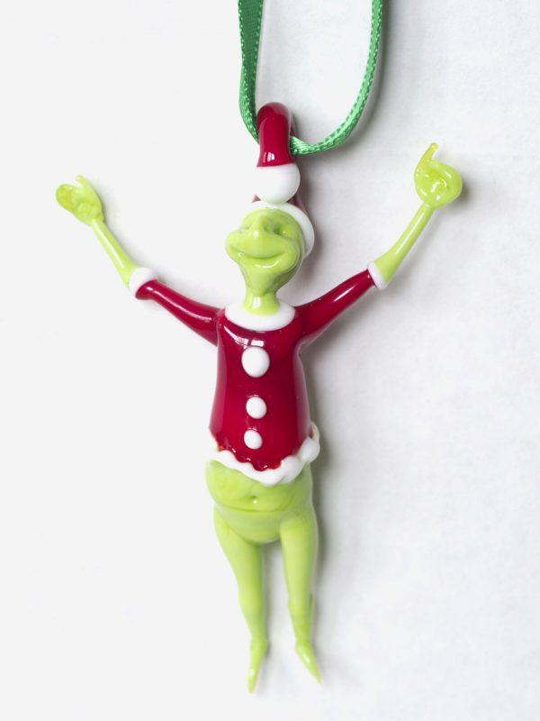 Grinch Glass Ornament