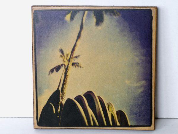 Wood Transfer Large – Palm Trees