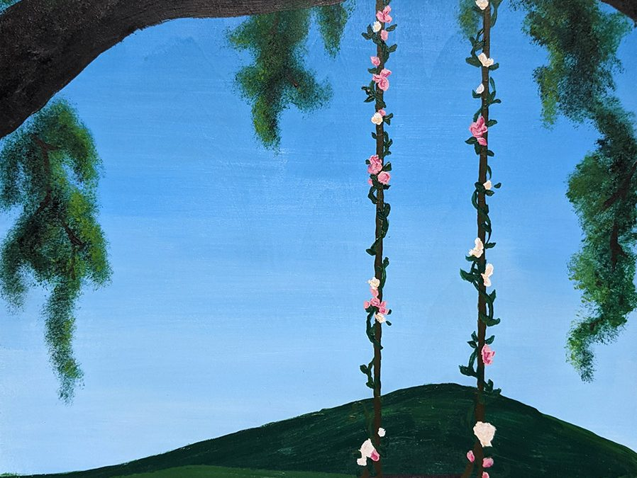 "MAY 8 | ""Swing Into Spring"" Virtual Paint Party"
