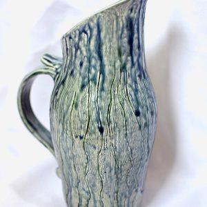 Large jug blue ash glaze
