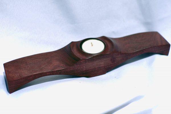 Purpleheart winged tealight holder