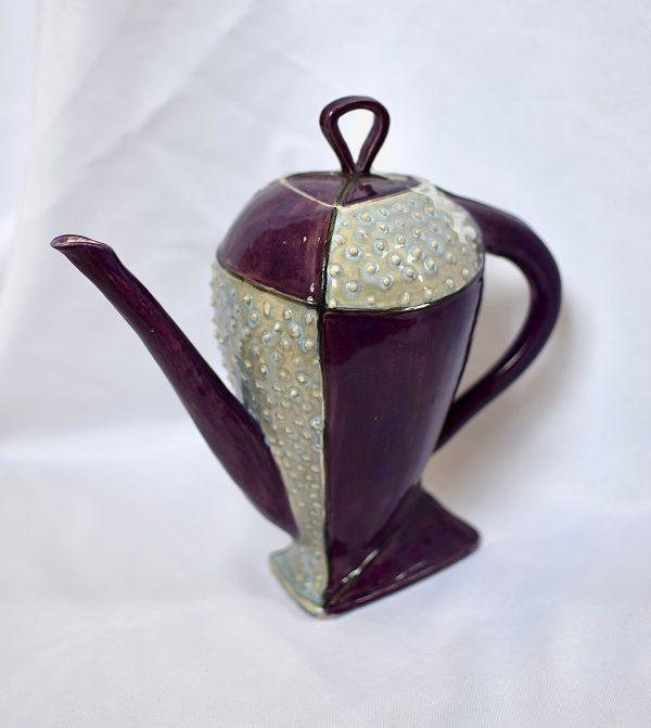 Teapot Altered triangle purple