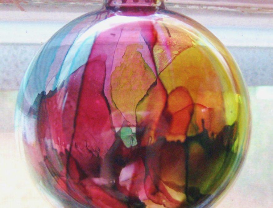 NOVEMBER 13   Alcohol Ink (Holiday Balls) Workshop with Margaret Brackley – in studio