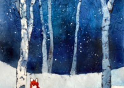 DECEMBER 11   Watercolour Batik workshop: Fox in Winter